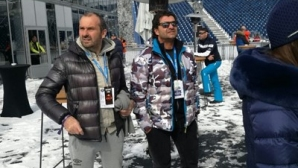 Алберто Томба пристигна в Банско, пожела успех на Алберт Попов (снимки)