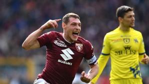 """Торино прекърши Киево с късни голове, """"биковете"""" са в страхотна серия (видео)"""
