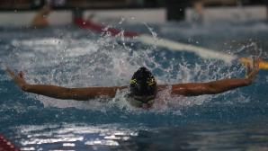 Рекорд за юноши на 100 метра бруст по време на турнира в Благоевград