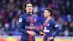 ПСЖ няма да разчита на Кавани в дербито с Марсилия