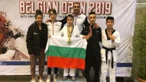 Блестящи родни таекуондисти с нови медали от Белгия Оупън