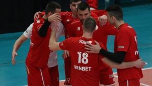 ЦСКА срази Пирин с 3:0 и е на победа от полуфинал (галерия + статистика)