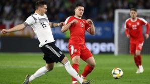 Германия отново не убеди, а в края едва не загуби една от звездите си (видео)