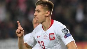 """Пьонтек """"избухна"""" и в националния отбор (видео)"""