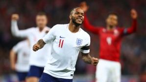 Англия стресна всички съперници в нашата група, Стърлинг разпиля чехите (видео)