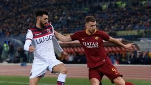 Рома изважда Джеко от състава за мача с Наполи