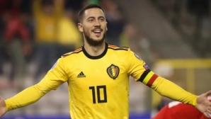 Азар ще изиграе мач номер 100 за Белгия срещу Кипър