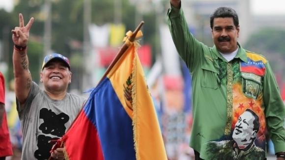 Марадона може да бъде наказан заради посветена победа на венецуелския президент
