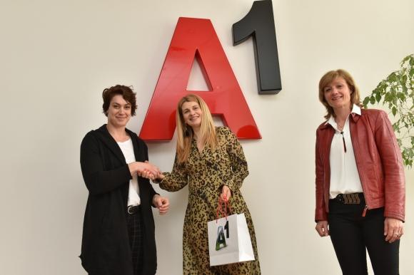 A1 със специална награда за европейската шампионка Радослава Мавродиева