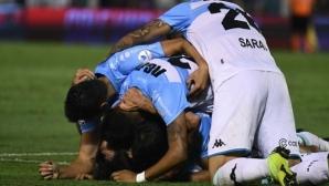 Куриозен гол реши титлата в Аржентина (видео)