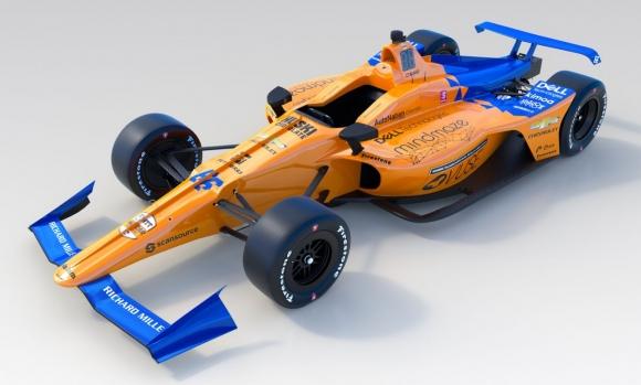 Макларън показаха състезателния автомобил на Алонсо за Инди 500 (видео)