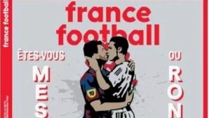 """""""Франс Футбол"""" скандализира: Меси и Кристиано в романтична целувка"""