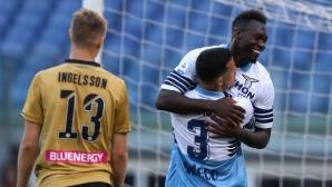 Лацио се върна в битката за ШЛ след победа над Удинезе (видео)