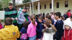 Баскетболисти на Балкан посетиха училище в Трудовец