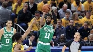 Бостън е на победа разстояние от втория кръг след ново късно избухване на Кайри Ървинг