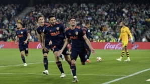 Валенсия гледа към ШЛ след страхотни голове на португалското си бижу (видео)