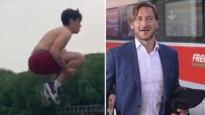 Фен на Рома скочи в Тибър заради Франческо Тоти
