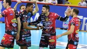 Перуджа на победа от финал в Италия след обрат срещу Модена (видео + снимки)
