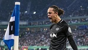 РБ Лайпциг нокаутира Хамбургер за първия си финал за Купата на Германия
