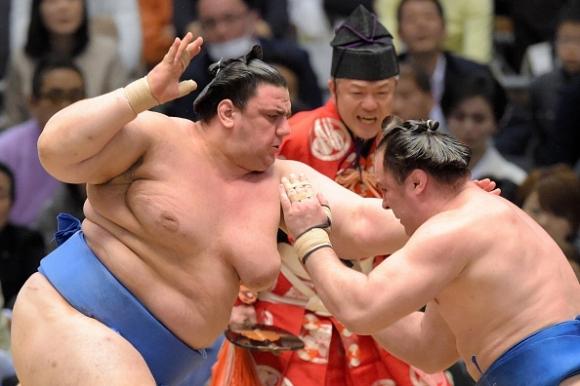 Аоияма спечели първата си схватка като комусуби