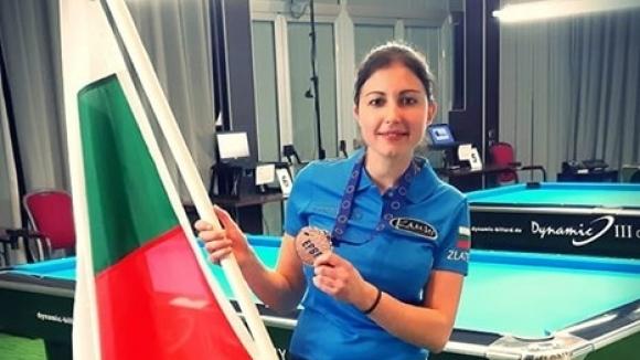 Първи медал за българка от Европейско по билярд!