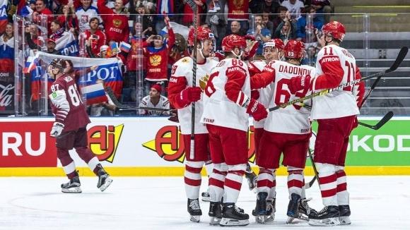 Русия е първият четвъртфиналист на световното първенство по хокей