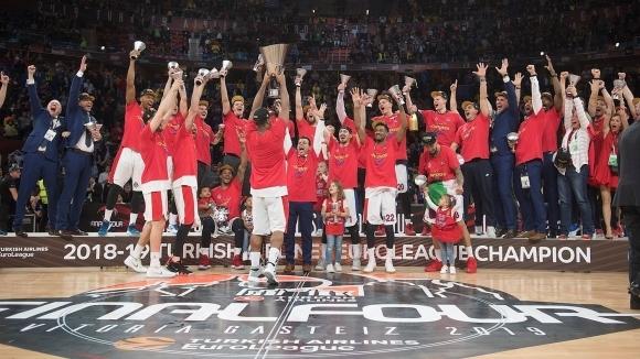 ЦСКА (Москва) отново е на върха на баскетболна Европа