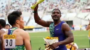 37-годишният Гатлин откри сезона с победа на 100 метра