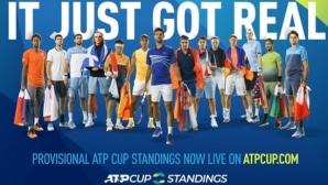 България е 21-ва в дебюта на ранглистата на ATP Cup
