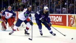 Великобритания победи Франция след продължение на Световното по хокей на лед