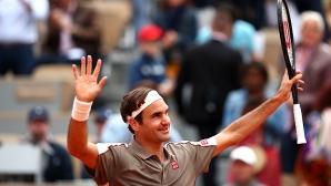 """Федерер се завърна на """"Ролан Гарос"""" по шампионски (видео)"""