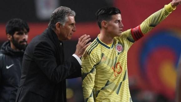 Хамес в групата на Колумбия за Копа Америка, но ще тренира с личен треньор