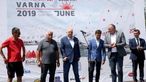 """Министър Кралев откри Европейската купа по ветроходство в клас """"Лазер"""""""