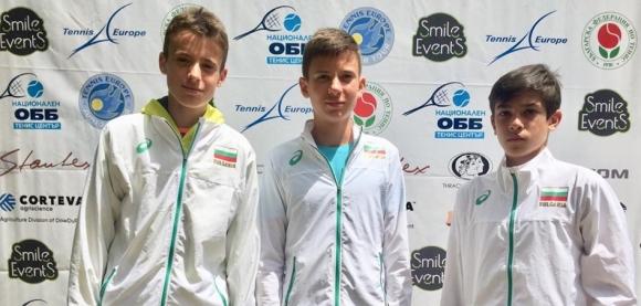 Четири българчета до 14 г. бяха избрани в отборите на ITF и Тенис Европа