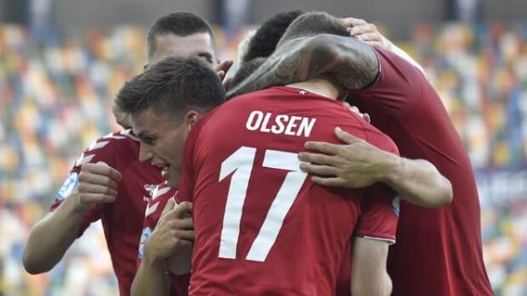 """Дания завърза интригата в група """"В"""" с победа над Австрия"""