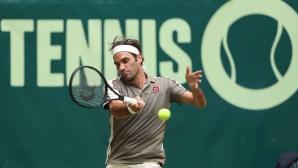 Федерер си отмъсти на австралиец и тръгна към 10-ата в Хале