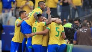 Бразилия се развихри и помете Перу по пътя към 1/4-финала (видео)