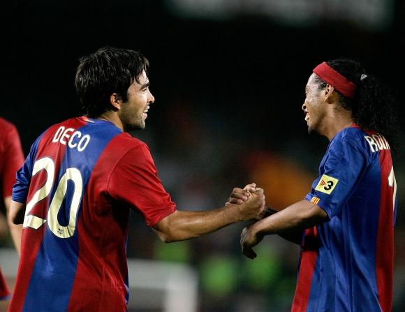 Роналдиньо и Деко ходели пияни на тренировка в Барса