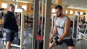 Националите започнаха с фитнес в Пловдив