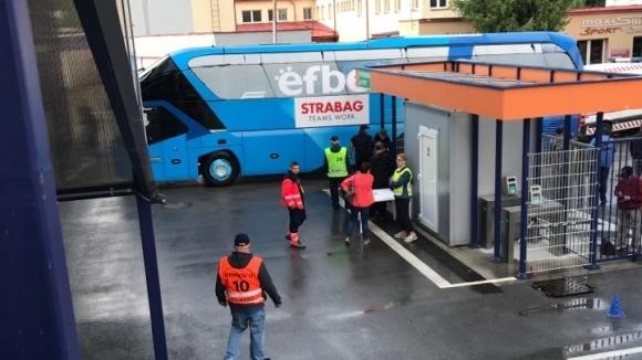 Левски пристигна на стадиона