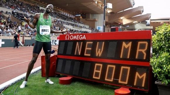Найджъл Амос пробяга най-бързите 800 метра от 2012 г. насам