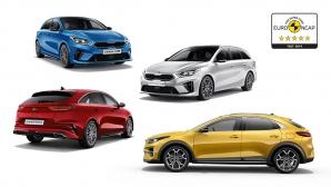 Семейство Ceed на KIA с топ резултат от Euro NCAP (видео)