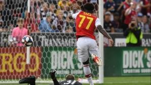 Арсенал вкара 3 на американци в първата си контрола (видео)