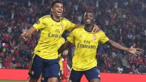 Младок носи победа на Арсенал срещу Байерн (Мюнхен)