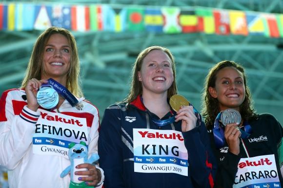 Лили Кинг победи рускинята Юлия Ефимова на 100 метра бруст