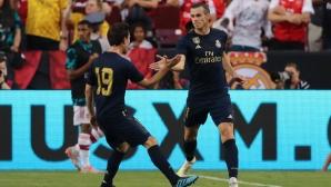 Зачеркнатият Бейл се завърна с гол и изпусната дузпа за Реал срещу Арсенал (видео)