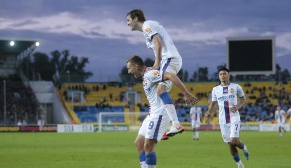 Чалов доближи ЦСКА (М) до върха (видео)