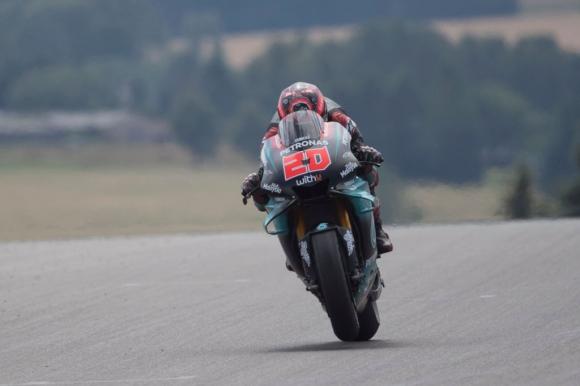 """Куартараро с 0.012 сек по-бърз от Винялес в MotoGP теста на """"Бърно"""""""