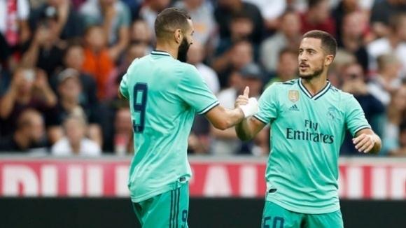 Азар се отпуши и с красив гол донесе победа за Реал Мадрид в Австрия (видео)