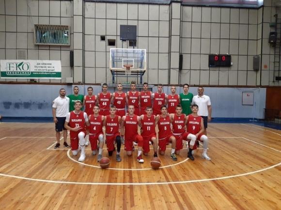 Юношите до 16 години започнаха с победа участието си на европейското първенство по баскетбол